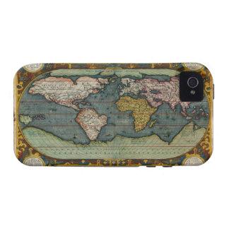 Caso del iPhone 4 del mapa de Viejo Mundo del Case-Mate iPhone 4 Funda