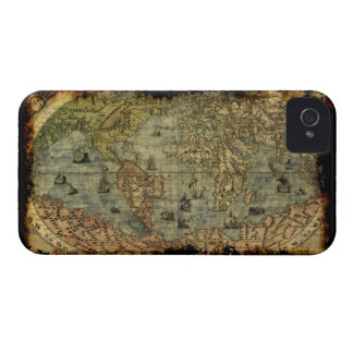 Caso del iPhone 4 del mapa de Viejo Mundo del vint