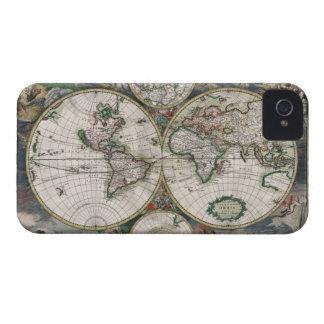 Caso del iPhone 4 del mapa del mundo del vintage iPhone 4 Funda