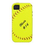Caso del iPhone 4 del softball de Fastpitch Vibe iPhone 4 Carcasa