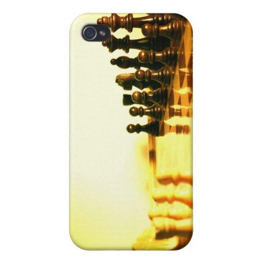 Caso del iPhone 4 del tablero de ajedrez iPhone 4 Funda