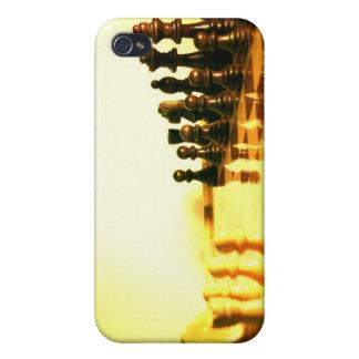 Caso del iPhone 4 del tablero de ajedrez iPhone 4 Carcasa
