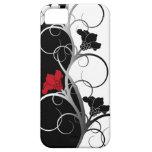 Caso del iPhone 5/5S de las flores negras/blancas iPhone 5 Protector