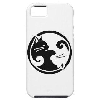 Caso del iPhone 5/5S de los gatos de Yin Yang Funda Para iPhone SE/5/5s