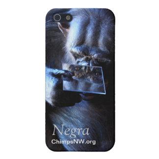Caso del iPhone 5/5S de Negra del chimpancé iPhone 5 Funda