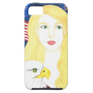 Caso del iPhone 5/5S del chica de los E.E.U.U. Funda Para iPhone SE/5/5s
