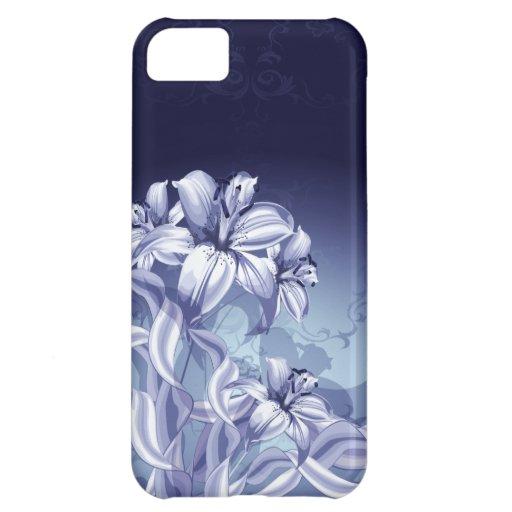 Caso del iPhone 5 C de la orquídea azul