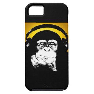 Caso del iPhone 5 de DJ del mono Funda Para iPhone 5 Tough