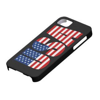 Caso del iPhone 5 de la bandera americana de los iPhone 5 Protector