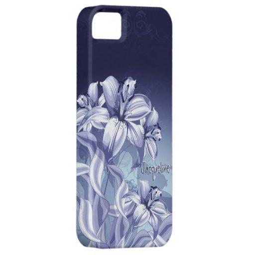 Caso del iPhone 5 de la orquídea azul iPhone 5 Protector