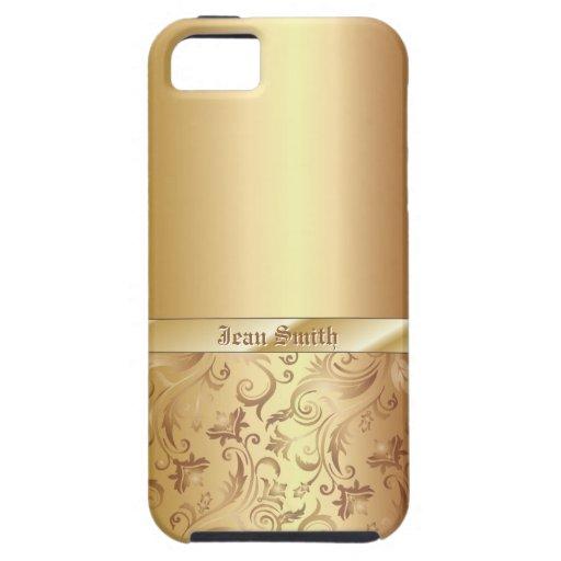 Caso del iPhone 5 de la textura del metal del orna iPhone 5 Case-Mate Coberturas