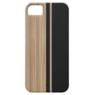 Caso del iPhone 5 de madera y de la fibra de Funda Para iPhone SE/5/5s