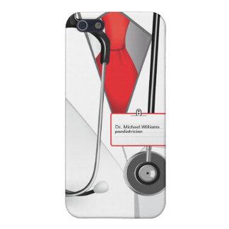 Caso del iPhone 5 del doctor de las medicinas iPhone 5 Protectores