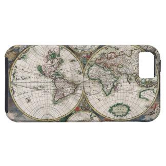 Caso del iPhone 5 del mapa del mundo del vintage iPhone 5 Case-Mate Protector