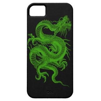 Caso del iPhone 5G del Draco del dragón verde iPhone 5 Case-Mate Protector