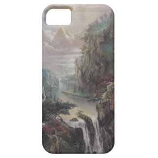 Caso del iPhone 5G del retratamiento de la montaña iPhone 5 Case-Mate Carcasa
