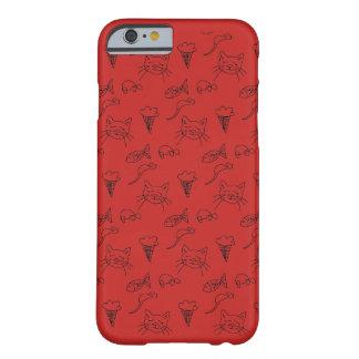 caso del iphone 5s con bosquejo del gato. funda barely there iPhone 6