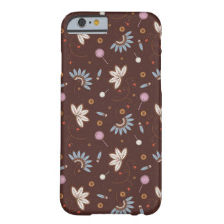 caso del iPhone 6 - Brown floral Funda De iPhone 6 Barely There