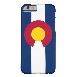 caso del iPhone 6 con la bandera de Colorado Funda De iPhone 6 Barely There