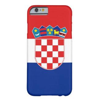 caso del iPhone 6 con la bandera de Croacia Funda De iPhone 6 Barely There