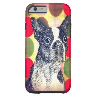Caso del iPhone 6 de Boston Terrier Funda Para iPhone 6 Tough