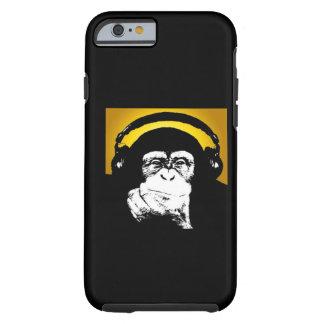 Caso del iPhone 6 de DJ del mono Funda Para iPhone 6 Tough