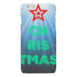 Caso del iPhone 6 de la estrella del navidad