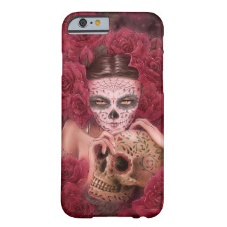 Caso del iPhone 6 de Las Calaveras Funda Barely There iPhone 6