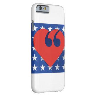 Caso del iPhone 6 del amor de los E.E.U.U. del Funda De iPhone 6 Barely There