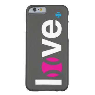 Caso del iPhone 6 del amor del tenis Funda De iPhone 6 Barely There