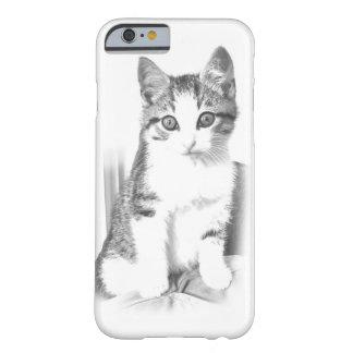 Caso del iPhone 6 del gato de Tabby del dibujo de Funda De iPhone 6 Barely There