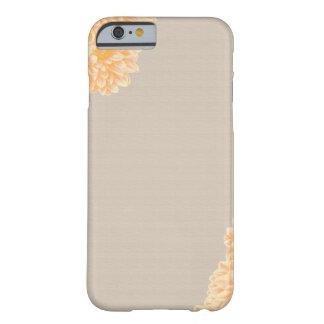Caso del iPhone 6 del lino y de la dalia Funda Barely There iPhone 6