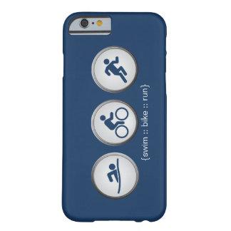 Caso del iPhone 6 del Nadada-Bici-Run del Funda Barely There iPhone 6