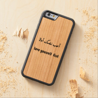 caso del iphone 6 funda protectora de cerezo para iPhone 6 de carved