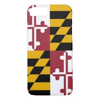 caso del iPhone 7 con la bandera de Maryland Funda iPhone 7