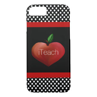 Caso del iPhone 7 de Apple del profesor rojo del Funda iPhone 7