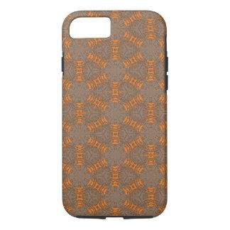 Caso del iPhone 7 de Brown del naranja y de la Funda iPhone 7