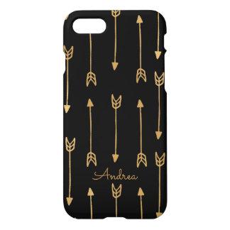 Caso del iPhone 7 de las flechas del oro Funda Para iPhone 7