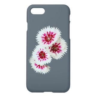 Caso del iPhone 7 de las flores rosadas y blancas Funda Para iPhone 7