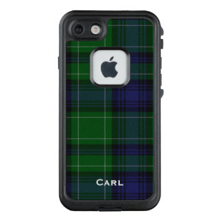 Caso del iPhone 7 de LifeProof de la tela escocesa