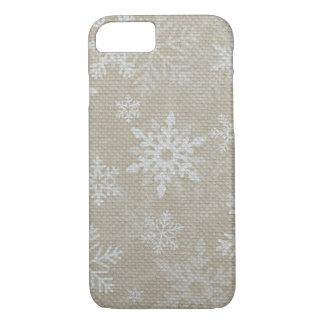 Caso del iPhone 7 de los copos de nieve del Funda iPhone 7