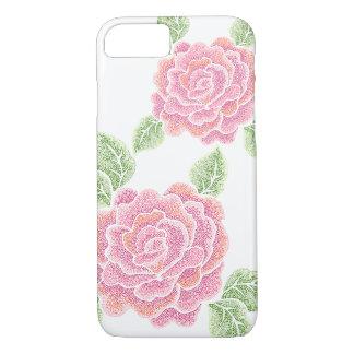 caso del iPhone 7 de los rosas del punto Funda iPhone 7
