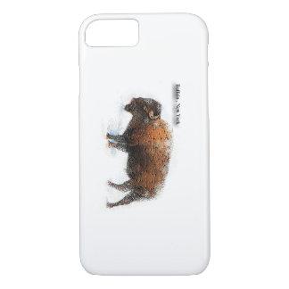 Caso del iPhone 7 de Nueva York del búfalo Funda iPhone 7