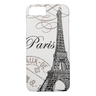 Caso del iPhone 7 de París del vintage… Funda Para iPhone 8/7