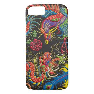 Caso del iPhone 7 de Yin Yang Phoenix y del dragón Funda iPhone 7