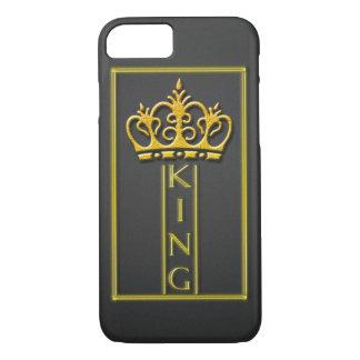 Caso del iphone 7 del diseño del rey del oro funda para iPhone 8/7