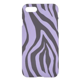 Caso del iphone 7 del estampado de zebra del añil funda para iPhone 7