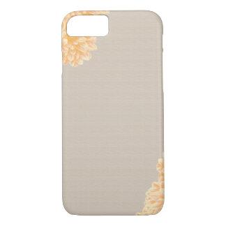 Caso del iPhone 7 del lino y de la dalia Funda iPhone 7