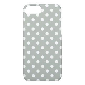 Caso del iPhone 7 del lunar de los gris plateados Funda iPhone 7