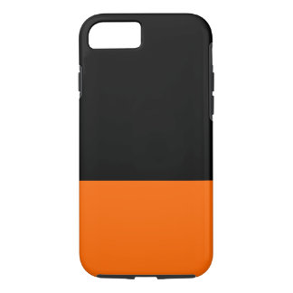 Caso del iPhone 7 del negro y de la mandarina Funda iPhone 7